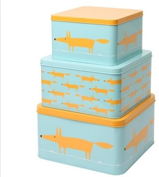 Dexam Scion Mr Fox Set Of 3 Square Cake Tins