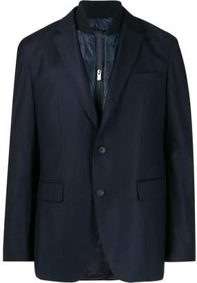 BOSS layered padded blazer