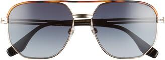 Marc Jacobs 58mm Gradient Aviator Sunglasses