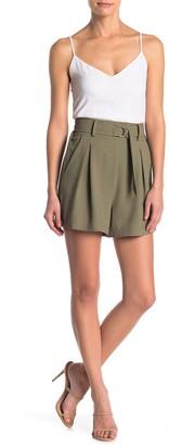 Abound Belted High Waist Pleated Shorts
