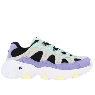 Fila Sneakers In Suede Leather And Colored Mesh