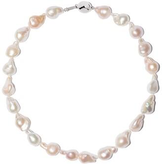 Yoko London 18kt white gold Barqoue Freshwater pearl necklace