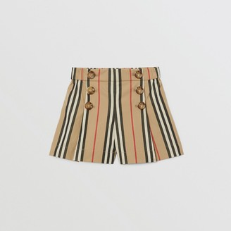 Burberry Childrens Icon Stripe Cotton Poplin Sailor Shorts