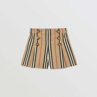 Burberry Icon Stripe Cotton Poplin Sailor Shorts