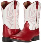 Ariat All Girl Champ (Toddler/Little Kid/Big Kid) (Lipstick Red/Winning White) Girl's Shoes