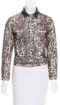 Etoile Isabel Marant Lightweight Leopard Print Corduroy Jacket