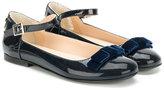Armani Junior high shine ballerinas - kids - Leather/Patent Leather/rubber - 28