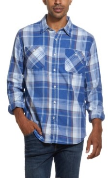 Weatherproof Vintage Men's Burnout Flannel Shirt