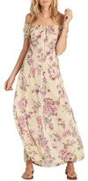 Billabong Women's Linger Here Off The Shoulder Maxi Dress