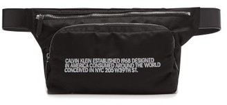 Calvin Klein Embroidered Technical Belt Bag - Mens - Black White