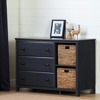 South Shore Cotton Candy 3 Drawer Dresser with Cubbies Color: Blueberry