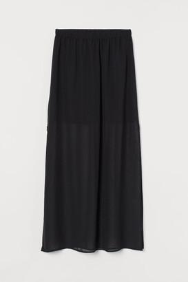H&M Long chiffon skirt