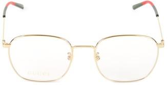 Gucci 54MM Goldtone Optical Lens Glasses