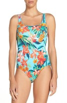 Tommy Bahama Women's Floriana Reversible One-Piece Swimsuit