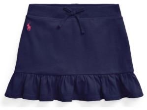 Polo Ralph Lauren Little Girls Ruffled Stretch Mesh Skort