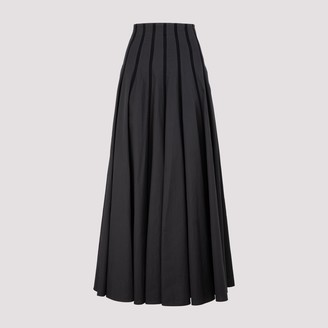 Brunello Cucinelli Pleated A-Line Skirt