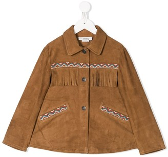 Bonpoint Fringed Button Up Jacket
