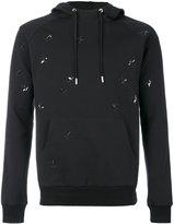 Christian Dior embroidered flies hoodie - men - Cotton/Polyamide/Spandex/Elastane - M