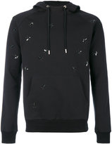 Christian Dior embroidered flies hoodie