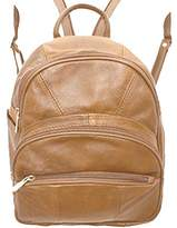 Value on Style Leather Backpack Purse Mid Size & Convertible into single strap sling Bag or Backpack wearing Multiple Organizer Pockets