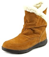 White Mountain Traffic Women Round Toe Suede Tan Winter Boot.
