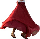 Beach Dress, TOOPOOT Women Elastic Waist Chiffon Long Maxi Beach Skirt