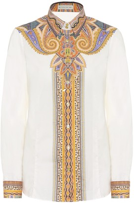 Etro Printed stretch-cotton shirt
