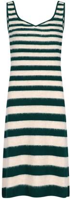 Marni Striped Knitted Midi Dress