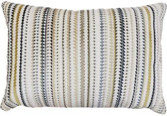 The Piper Collection Tristan 14x20 Lumbar Pillow - Blue/Green Velvet