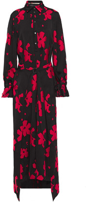 Roland Mouret Layered Floral-jacquard Maxi Dress