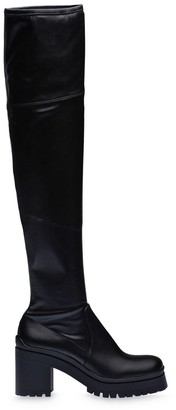 Miu Miu Square Toe Over-The-Knee Boots