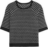James Perse Pointelle-knit cashmere sweater