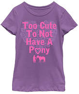 Fifth Sun Purple 'Too Cute to Not Have a Pony' Tee - Girls