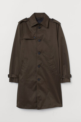 H&M Single-breasted Trenchcoat