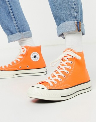 converse orange et noir
