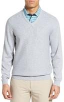 Bobby Jones Men's Pique Jersey V-Neck Sweater