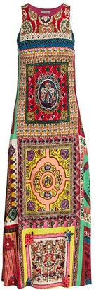 Etro Mosaic Tile-Print Jersey Midi Dress