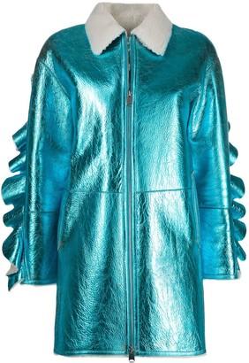 Liska zipped metallic coat