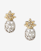 Express pineapple cut-out post-back stud earrings