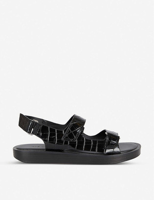 Who What Wear Axel snakeskin-print faux-leather sandals