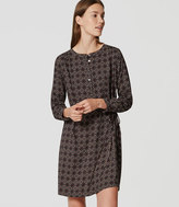 LOFT Tiled Modern Henley Shirtdress
