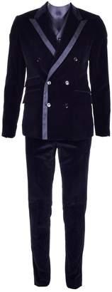 Dolce & Gabbana Black Velvet Suits