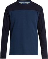Blue Blue Japan Contrast yarn-dyed cotton-jersey sweatshirt