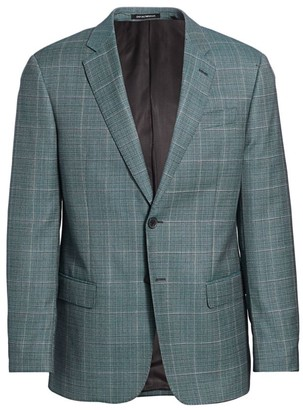 Emporio Armani Plaid Virgin Wool Sport Coat