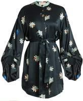 Roksanda Dalia floral-print hammered satin dress
