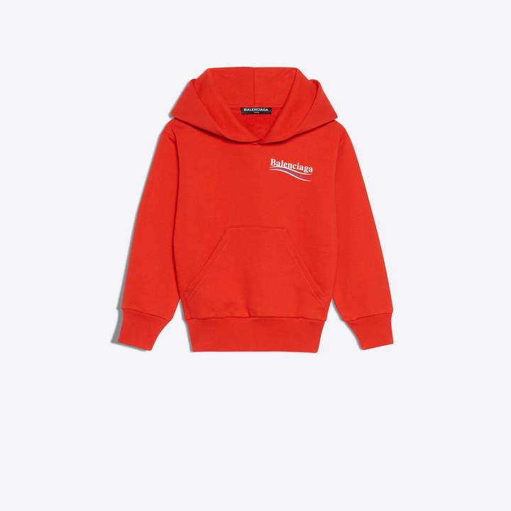 Balenciaga KidsBalenciaga Hoodie sweater with tricolor logo printed at chest