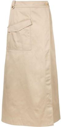 Nehera Wrap Front Long Skirt