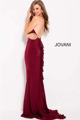 Jovani Ruffle Back Gown
