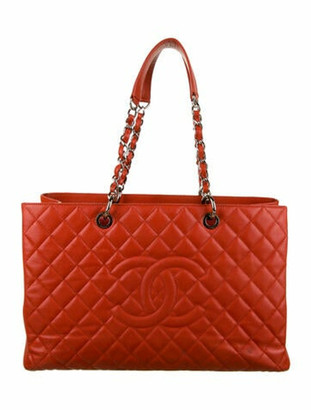 Chanel XL Grand Shopping Tote Terracotta