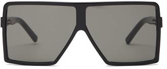 Saint Laurent Betty Square-frame Acetate Sunglasses - Womens - Black